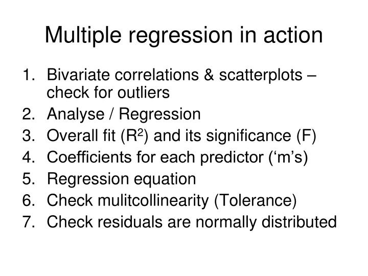 Multiple regression in action
