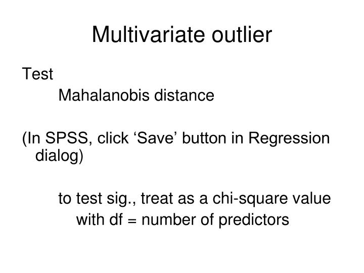 Multivariate outlier
