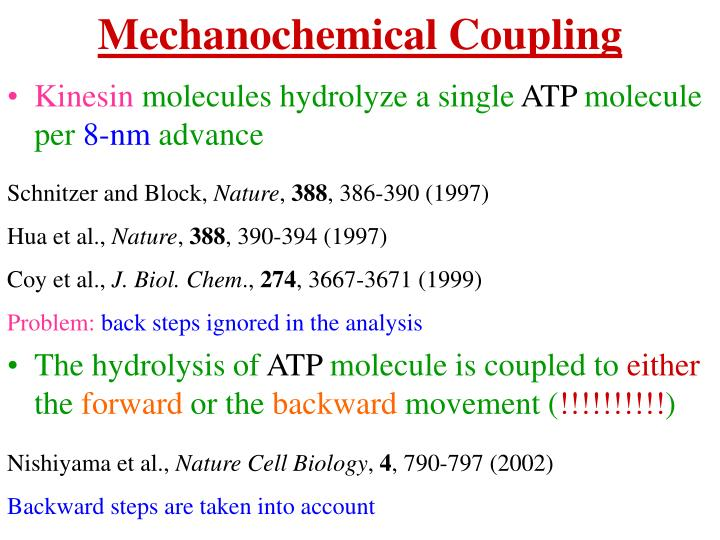 Mechanochemical Coupling
