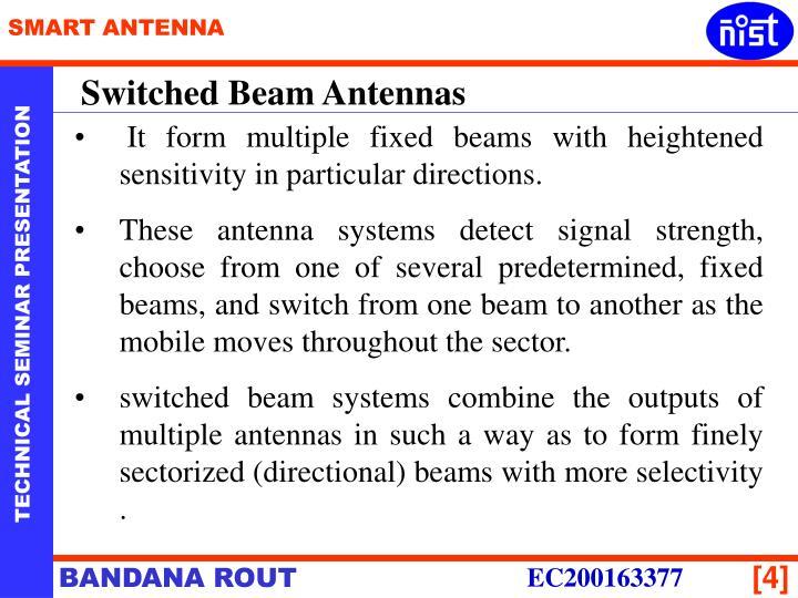 Switched Beam Antennas