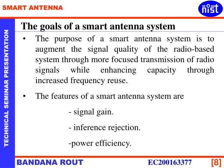 The goals of a smart antenna system