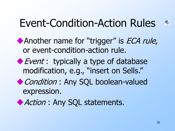 Event-Condition-Action Rules