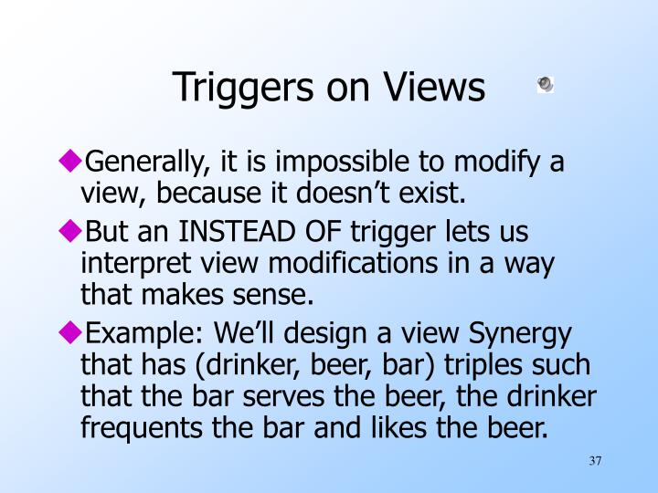 Triggers on Views