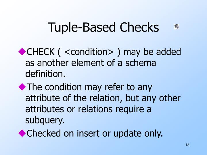 Tuple-Based Checks
