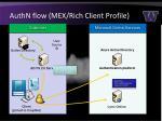 authn flow mex rich client profile