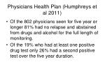 physicians health plan humphreys et al 2011