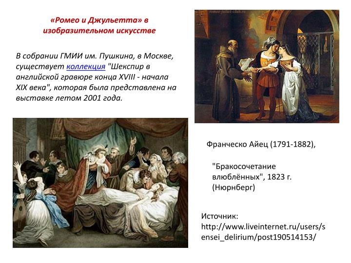 «Ромео и Джульетта» в изобразительном искусстве