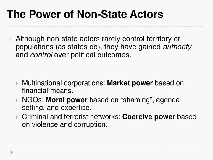 The Power of Non-State Actors