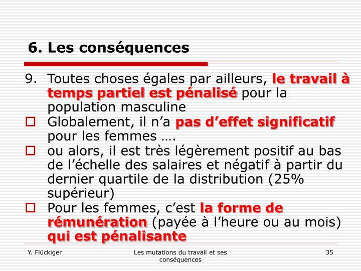 6. Les conséquences