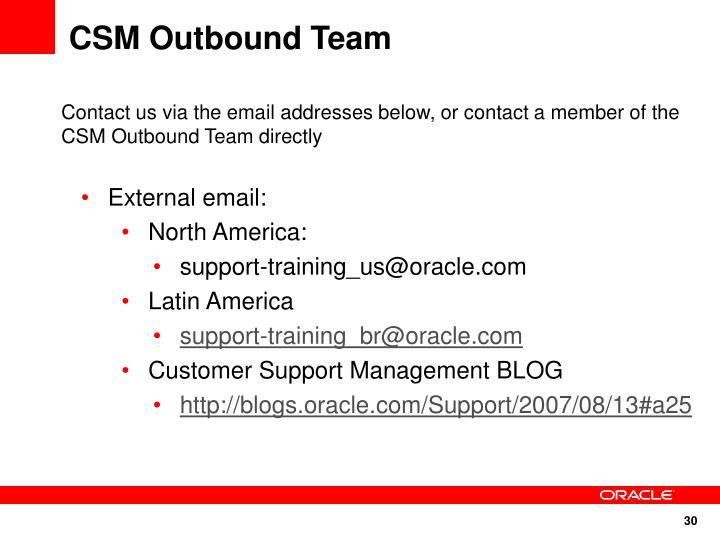 CSM Outbound Team