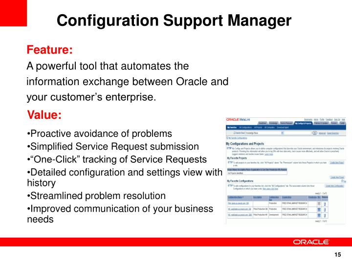 Configuration Support Manager