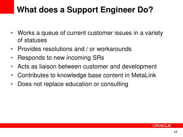 What does a Support Engineer Do?