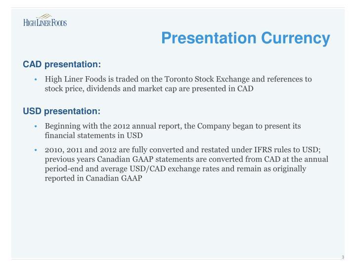 CAD presentation: