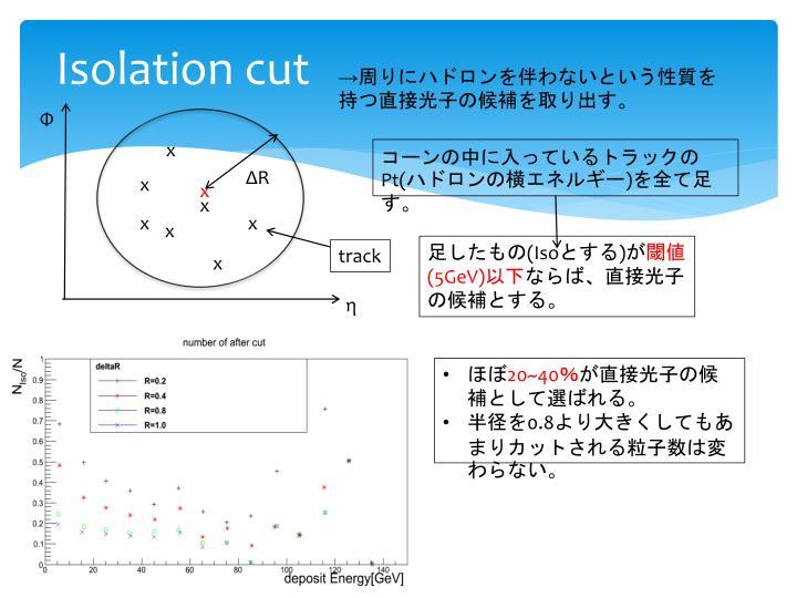 Isolation cut