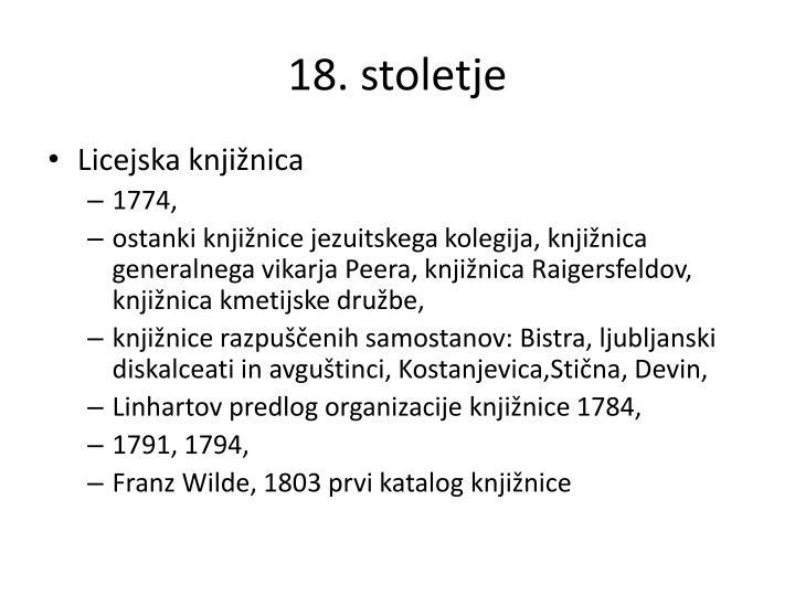 18. stoletje