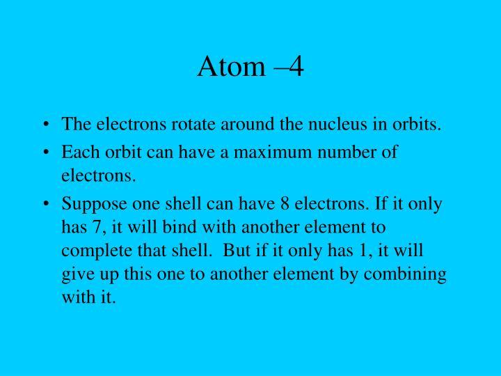 Atom –4