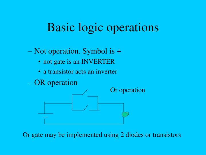 Basic logic operations