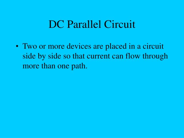 DC Parallel Circuit