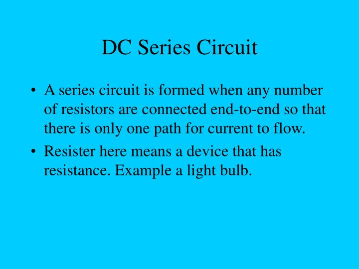 DC Series Circuit