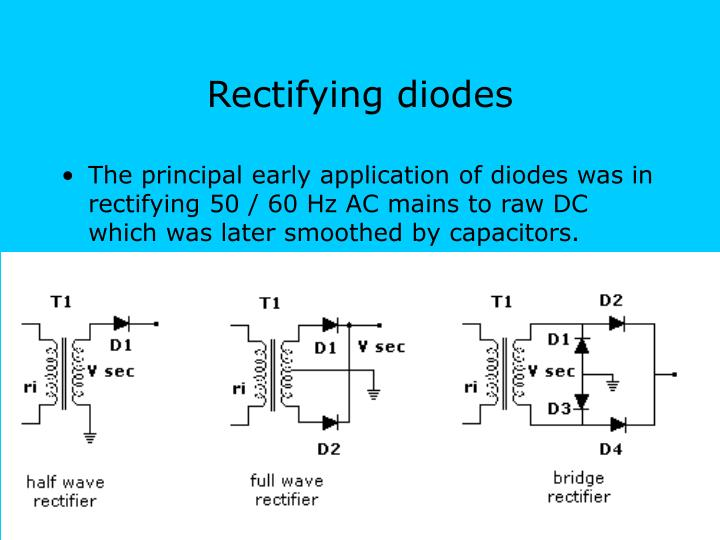 Rectifying diodes