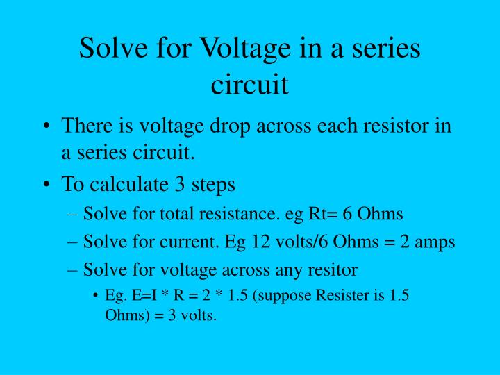 Solve for Voltage in a series circuit