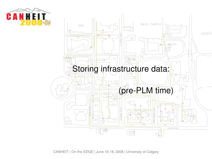 Storing infrastructure data:
