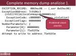 complete memory dump anal zise 1