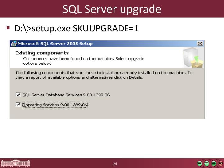 SQL Server upgrade