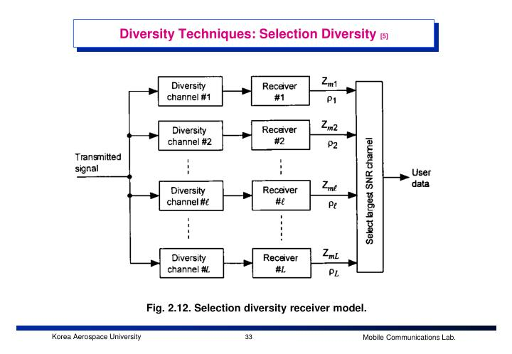 Diversity Techniques: Selection Diversity