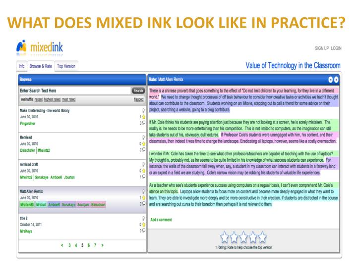 WHAT DOES MIXED INK LOOK LIKE IN PRACTICE?