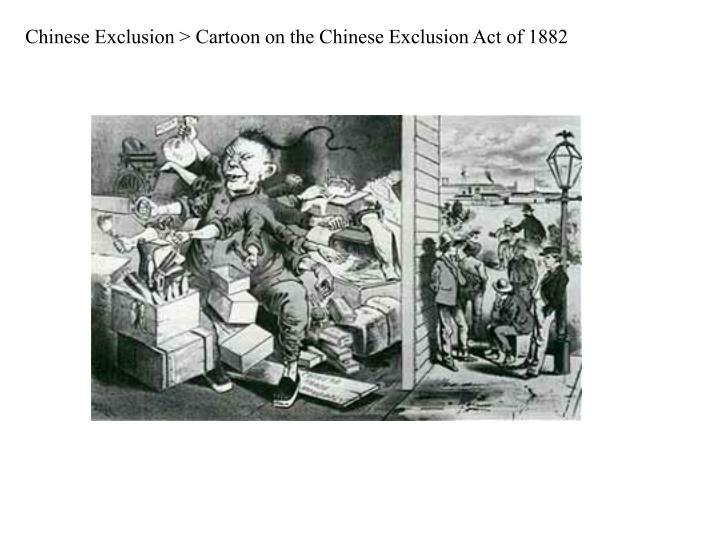 Chinese Exclusion > Cartoon on the Chinese Exclusion Act of 1882