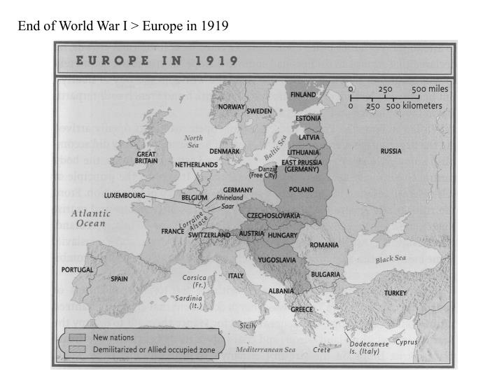 End of World War I > Europe in 1919