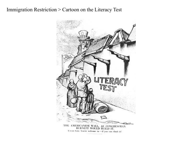 Immigration Restriction > Cartoon on the Literacy Test