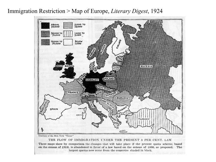 Immigration Restriction > Map of Europe,