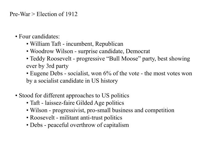 Pre-War > Election of 1912