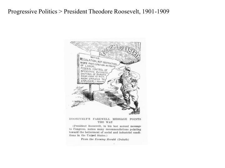 Progressive Politics > President Theodore Roosevelt, 1901-1909