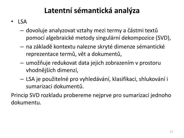 Latentní sémantická analýza