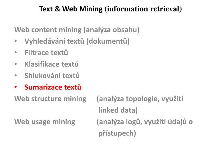 Text & Web Mining