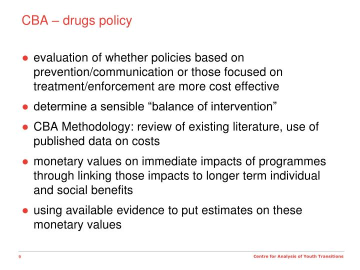 CBA – drugs policy