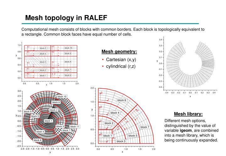 Mesh topology in RALEF