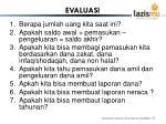 evaluasi