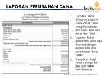 laporan perubahan dana