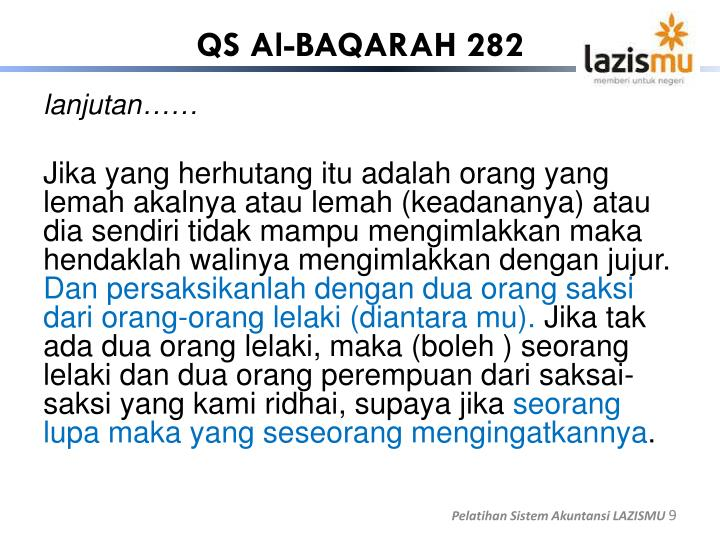 QS Al-BAQARAH 282