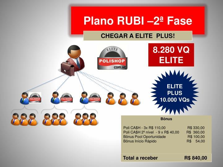 Plano RUBI –2ª Fase