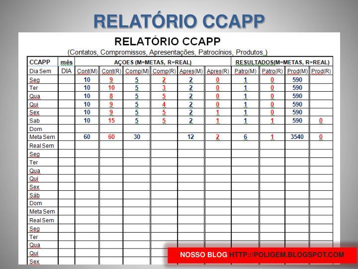 RELATÓRIO CCAPP