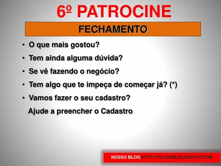 6º PATROCINE