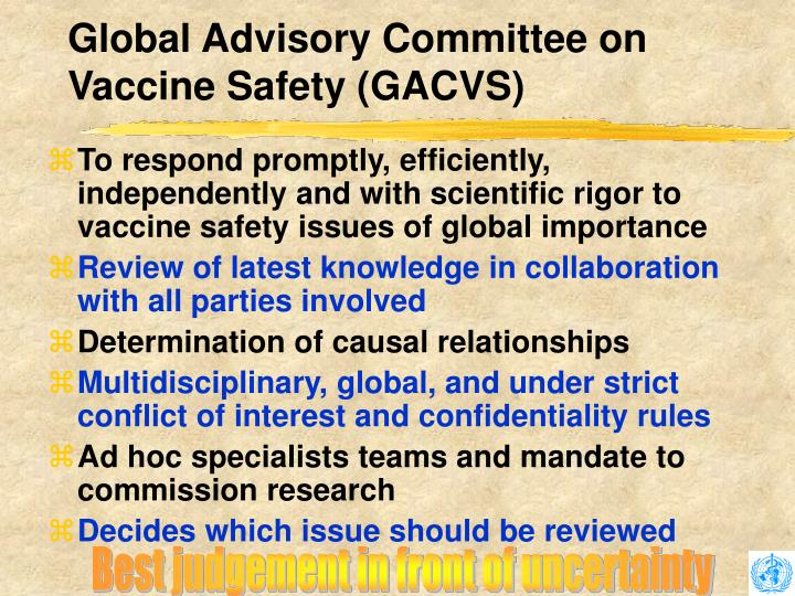 Global Advisory Committee on Vaccine Safety (GACVS)