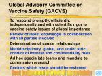 global advisory committee on vaccine safety gacvs