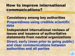 how to improve international communications