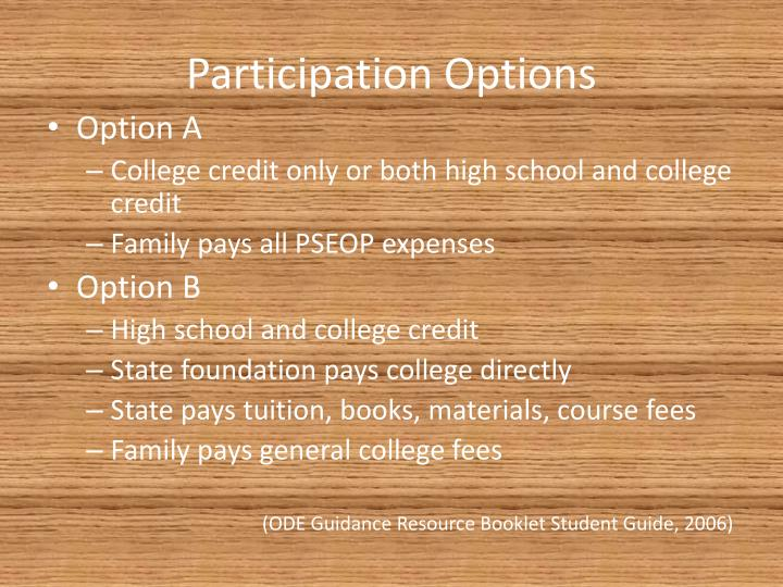Participation Options